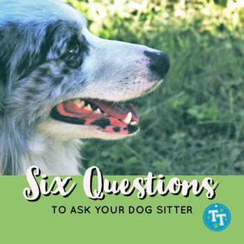 Six Questions to Ask Your Dog Sitter